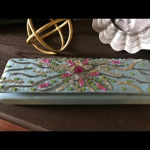 NWT Sequined Clutch